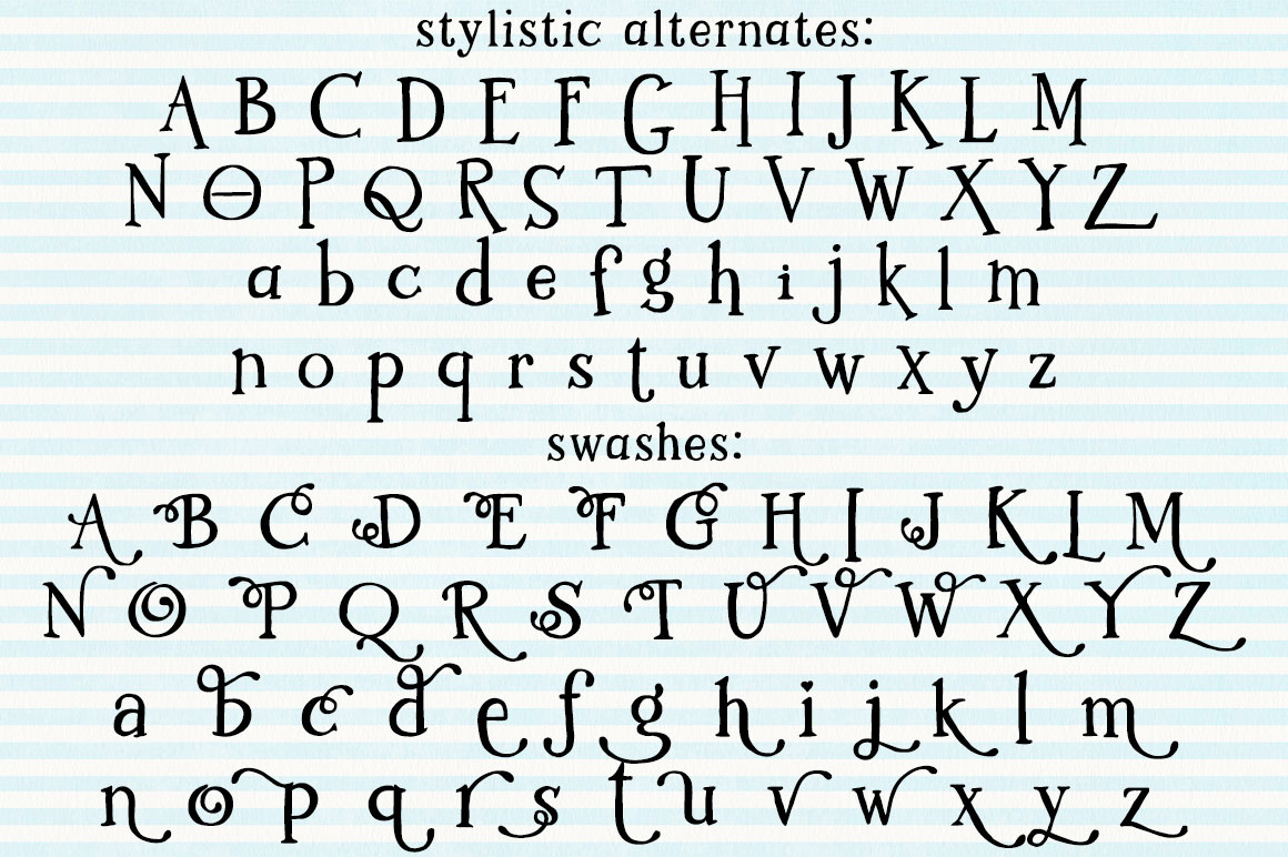 Kidlit: two sets of alternate letters