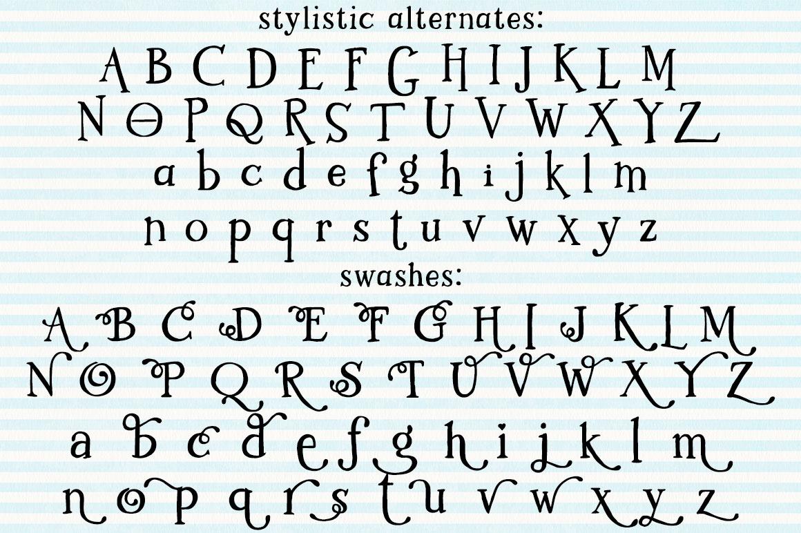 Kidlit: two sets of alternate letters