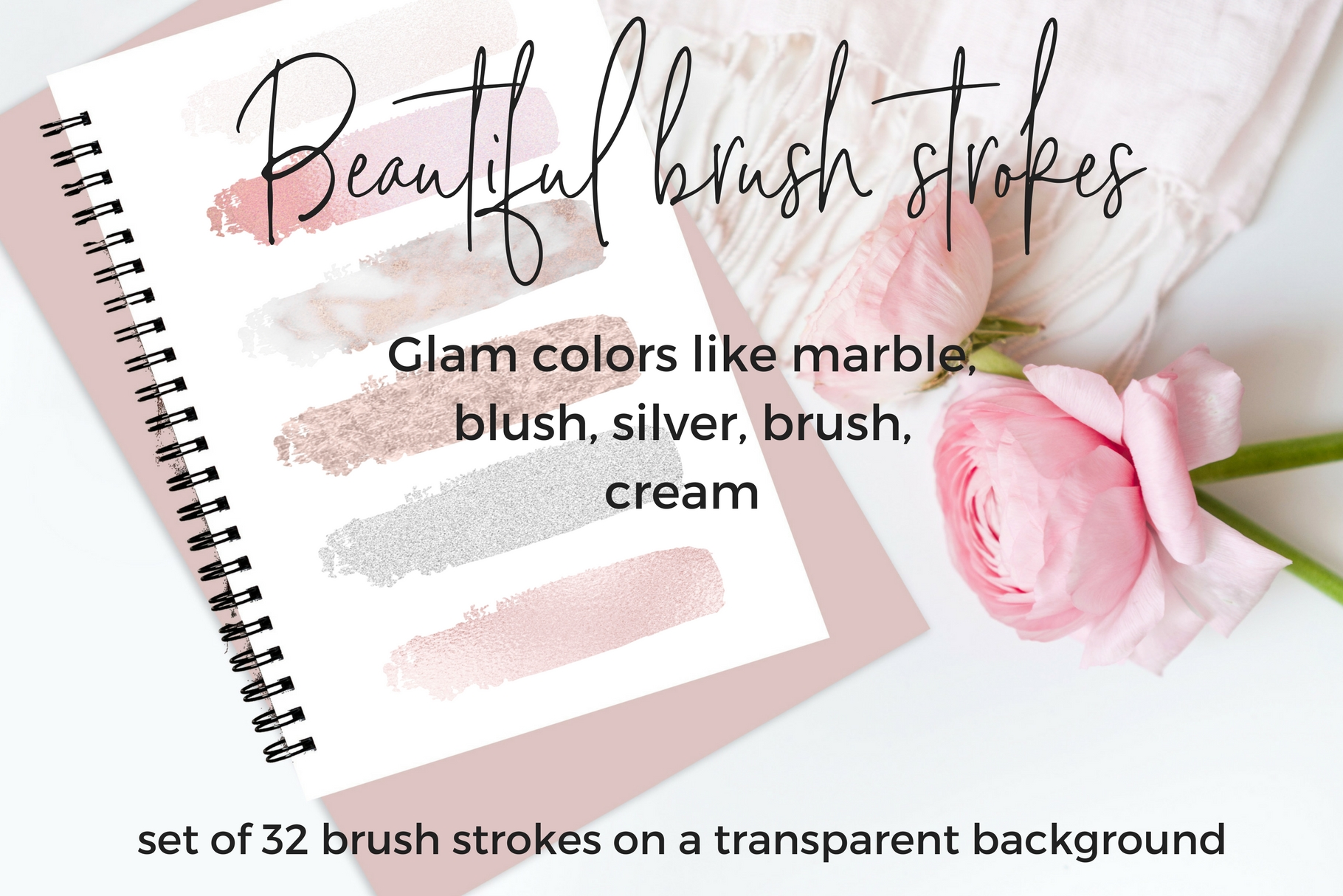 32 Brush strokes clipart example image 2