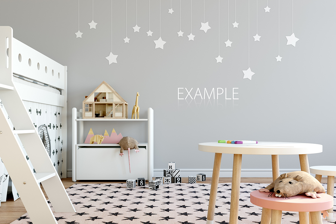 KIDS WALL & FRAMES Mockup Bundle - 2 example image 10