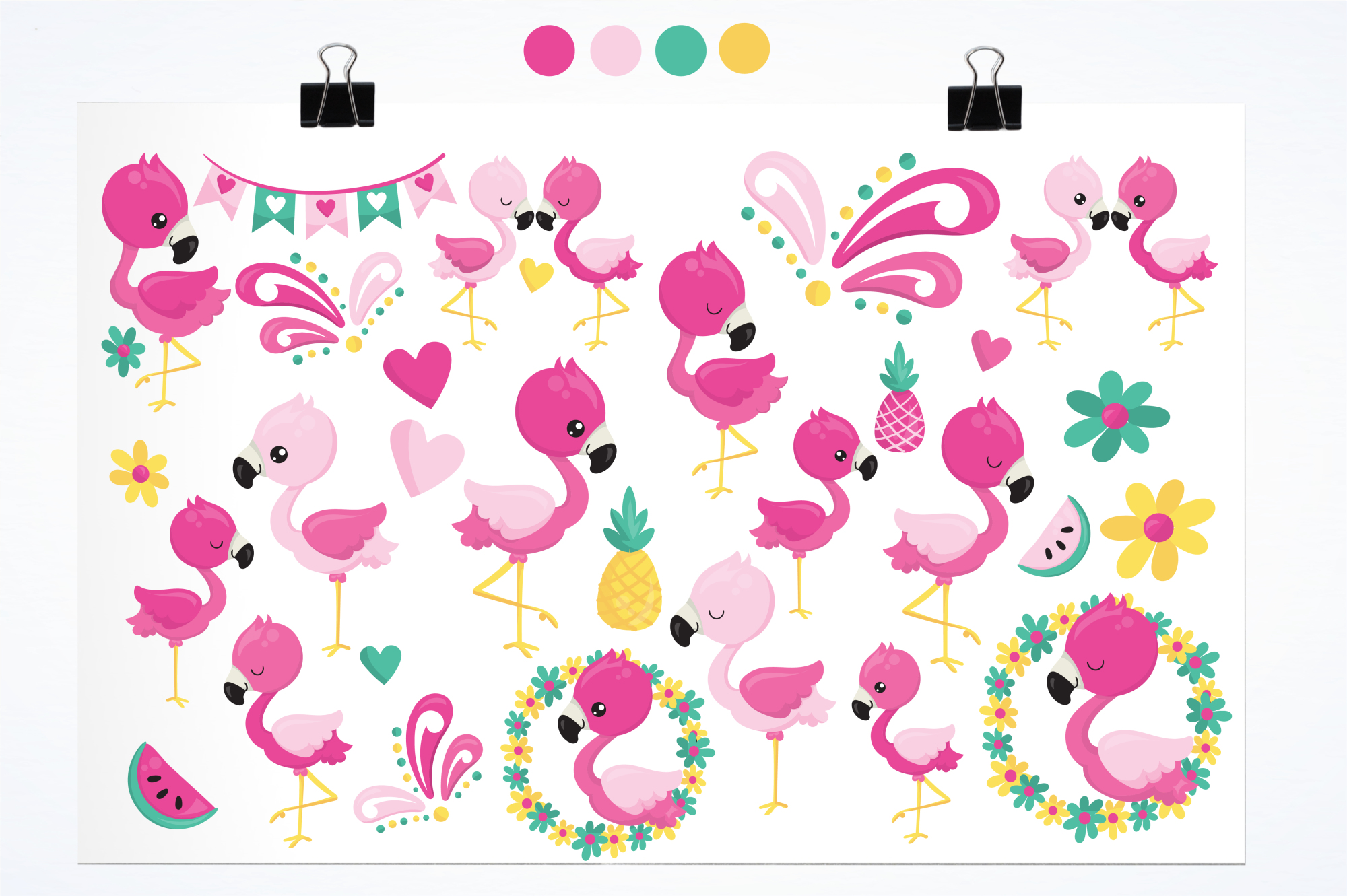 Flamingo graphics and illustrations example image 2