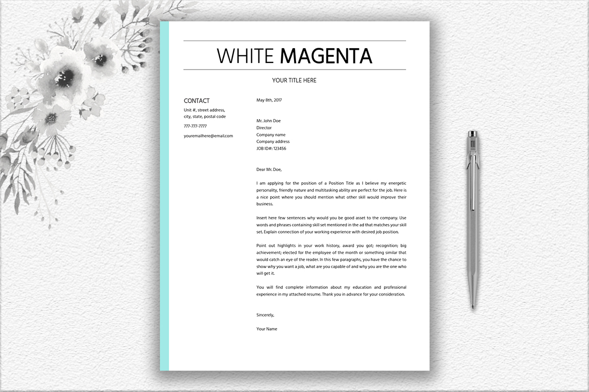 Simple Resume Template Design By Docume  Design Bundles