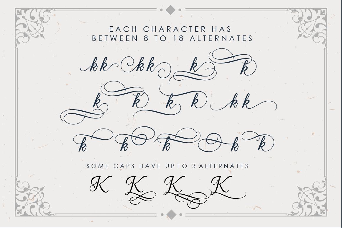 Beradon Script - Elegant Wedding font example image 3