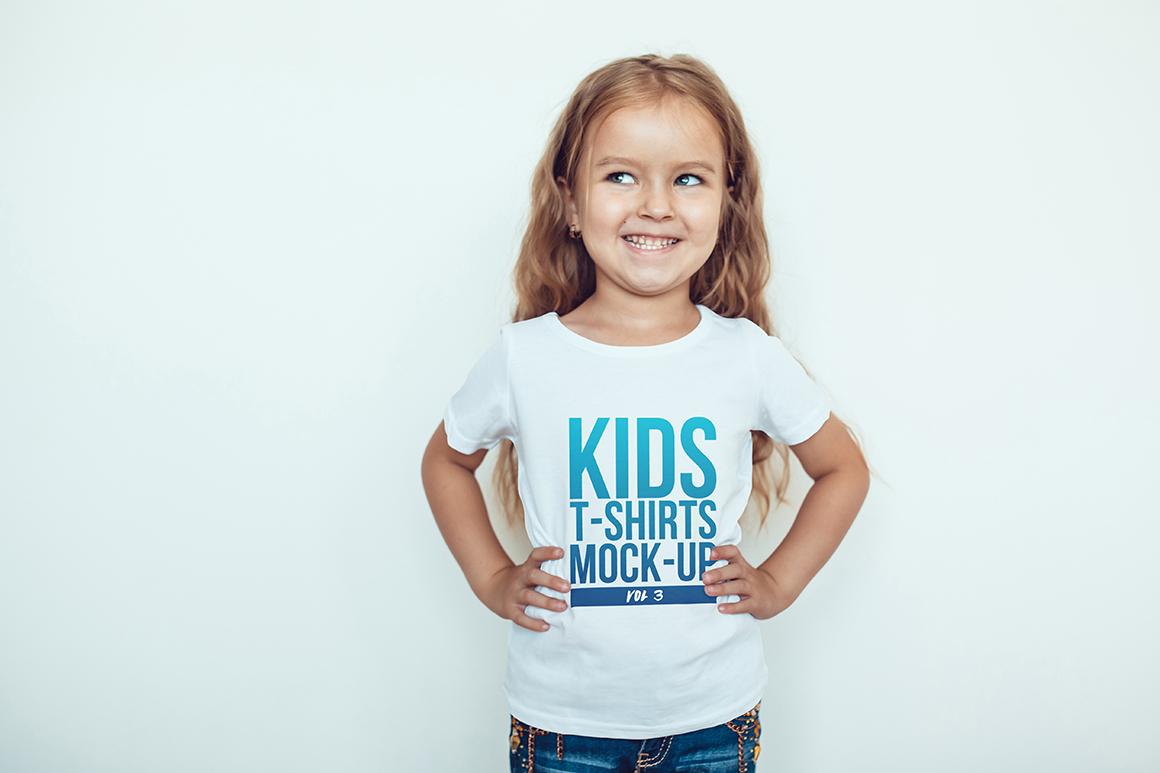 Kids T-Shirt Mock-Up Vol 3 example image 7