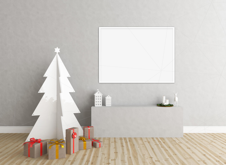Christmas interior mockup bundle - blank wall mock up example image 3