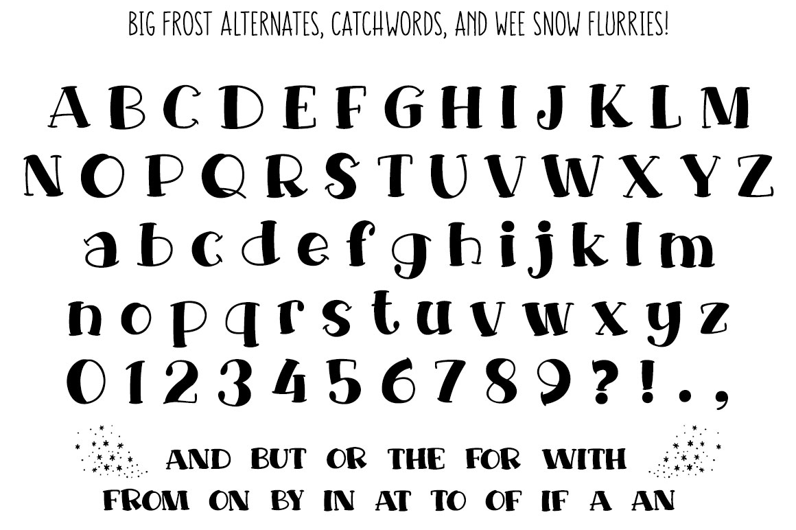 Big Frost - stylistic alternates and small catchwords