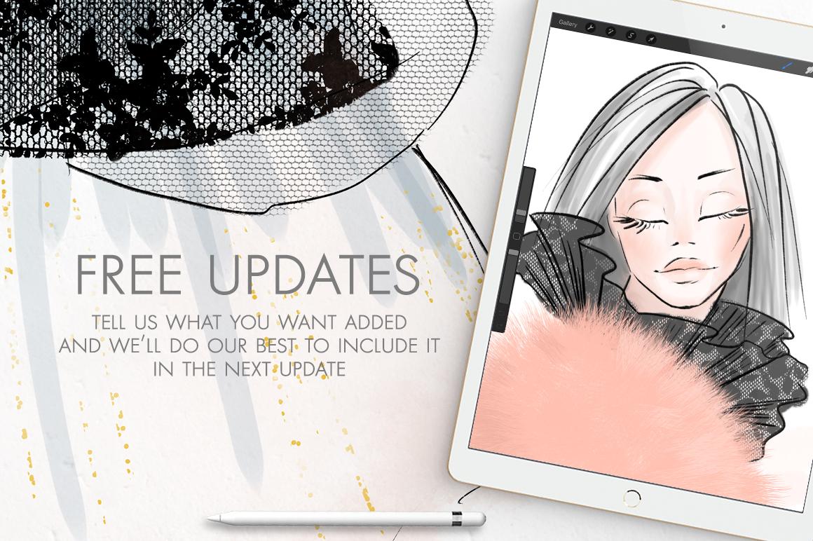 Fashion Illustration Brushes for Procreate example image 5