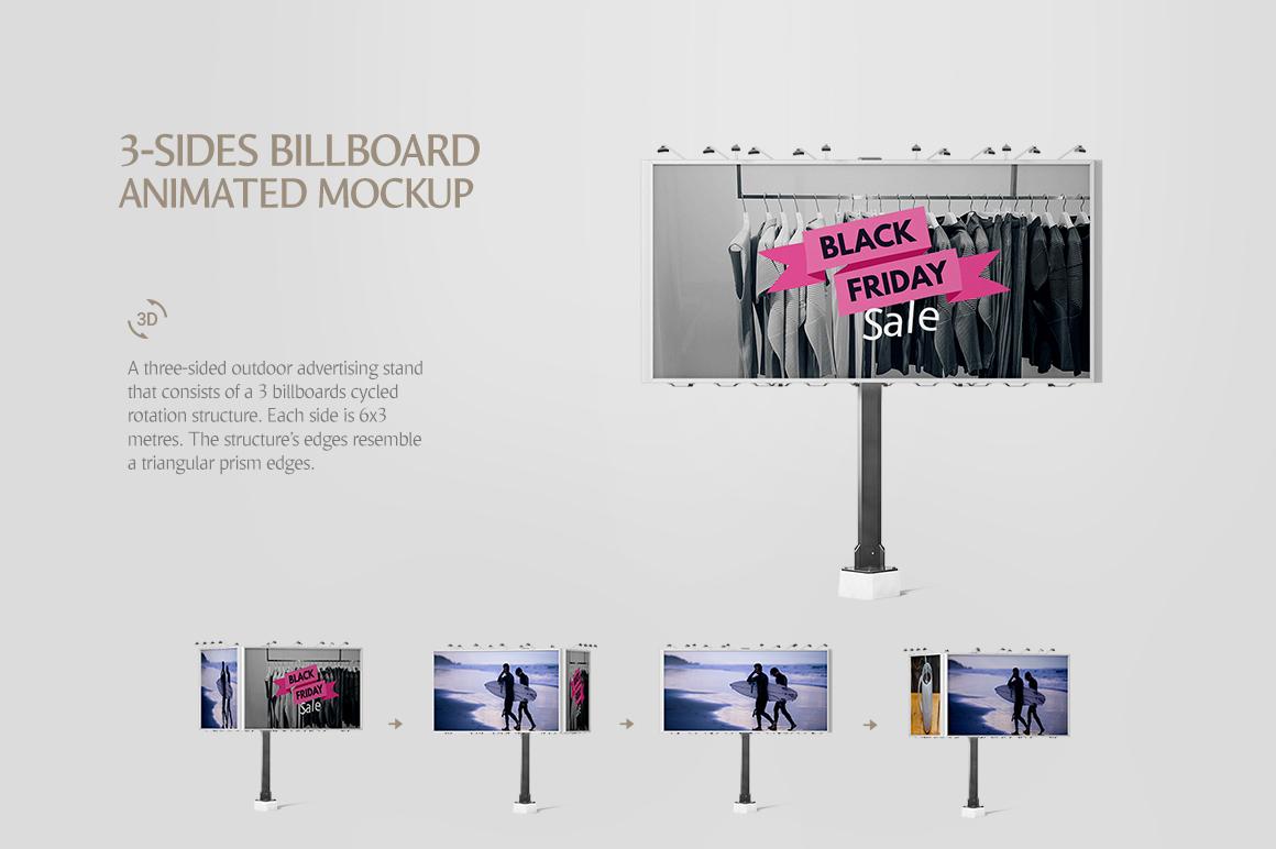 6 poster design photo mockups - Billboard Animated Mockups Bundle Bilboard Mock Up Poster Mockup Cityboard Mockup Example