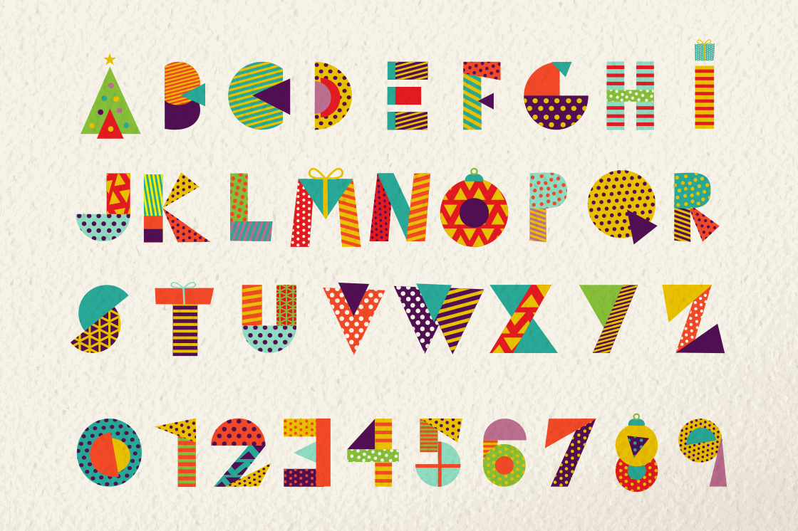 Christmas Geometric typeset + MORE - 90% OFF!  example image 2