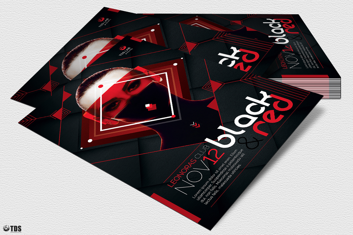 Black and Red Flyer Template V4 example image 4
