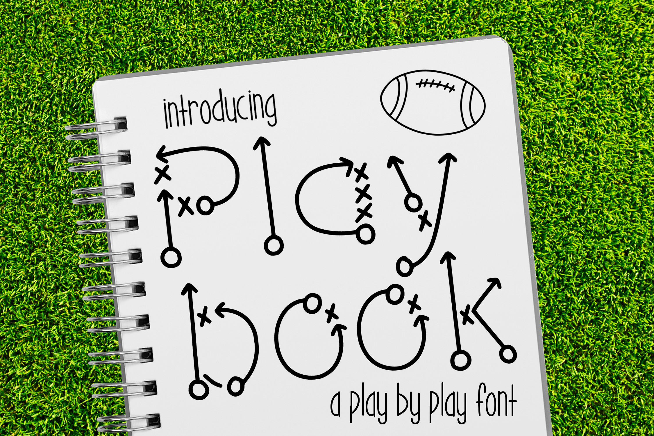 Play Book a Play by Play Font example image 1