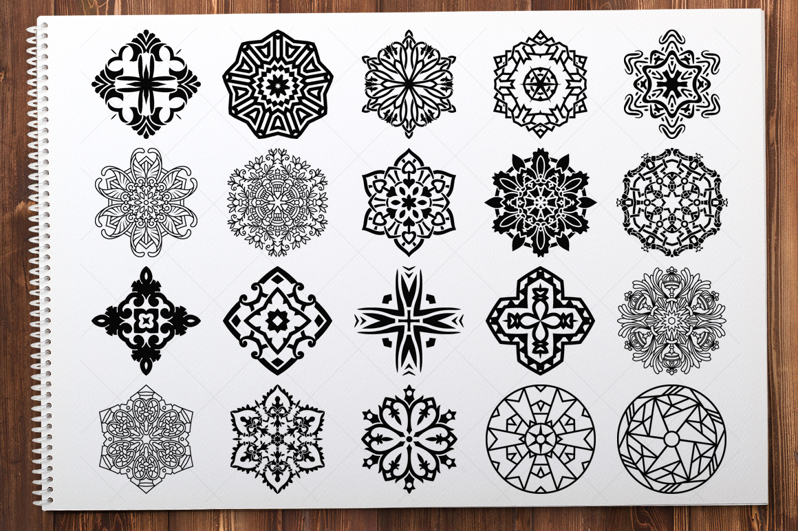 500 Vector Mandala Ornaments example image 10