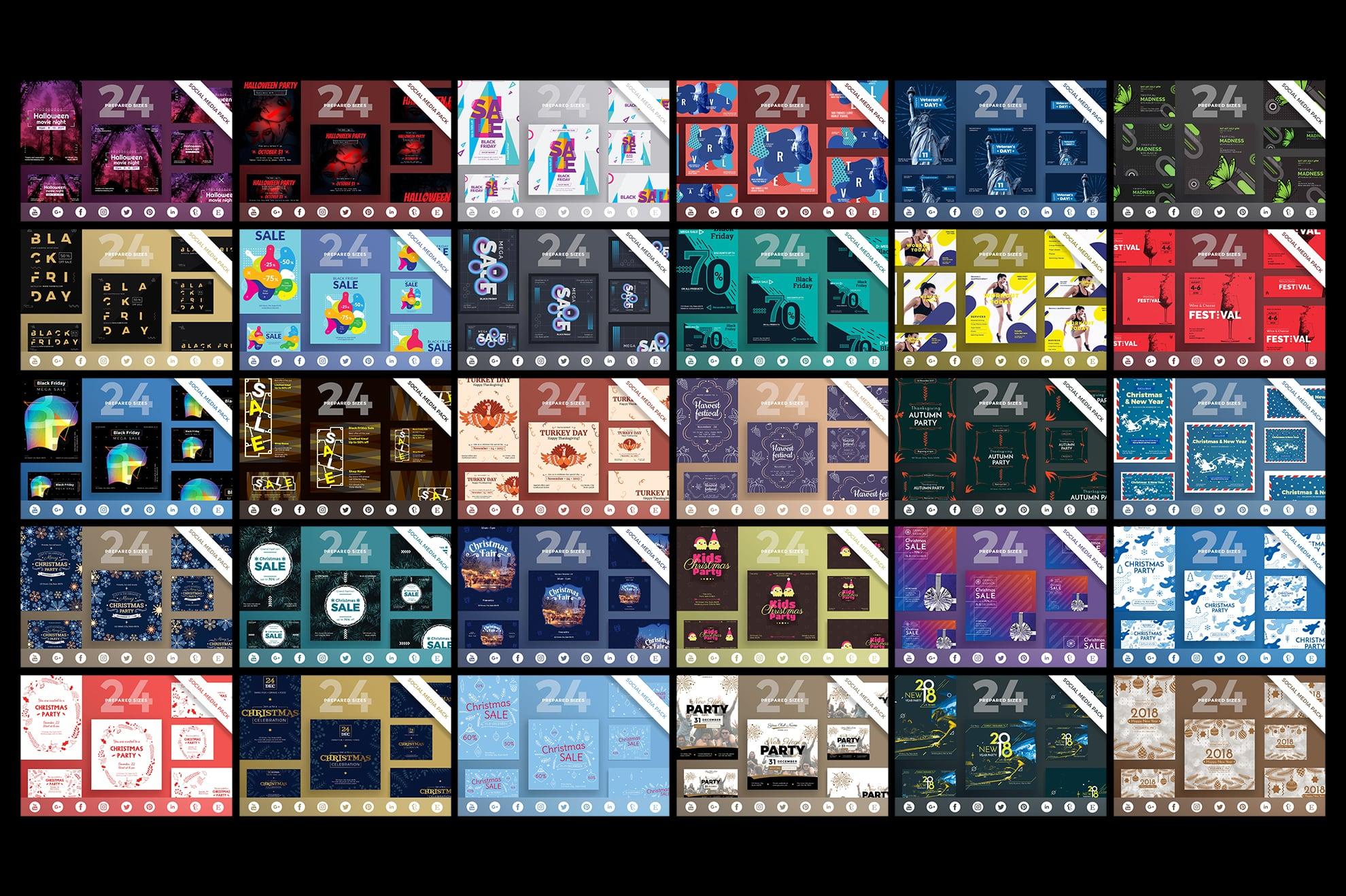 Social Media Cover & Post Design Templates Bundle SALE example image 9