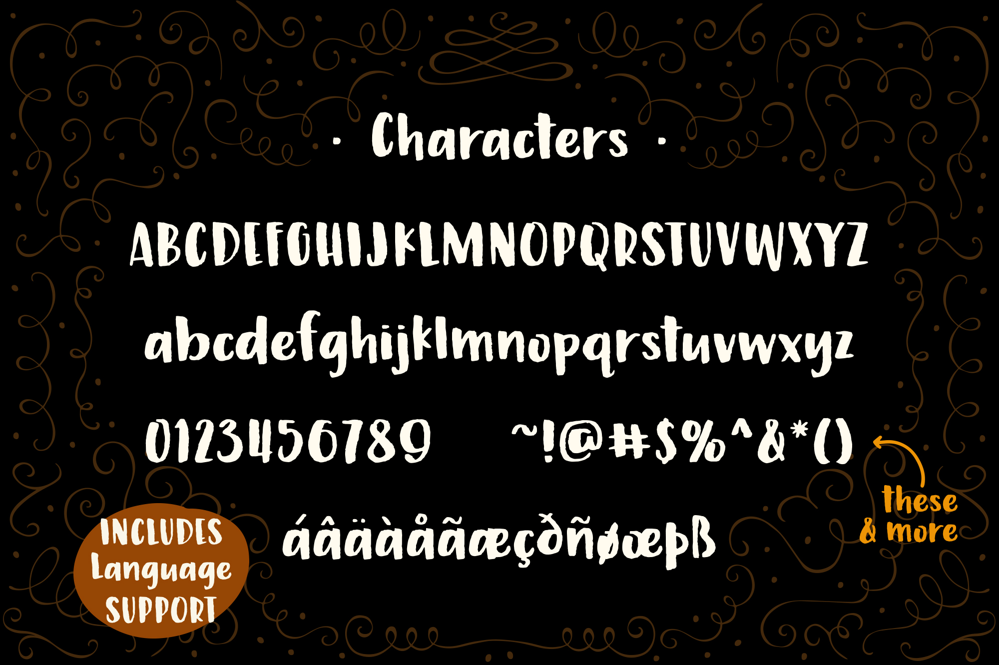 Marmalade, a hand painted font example image 3