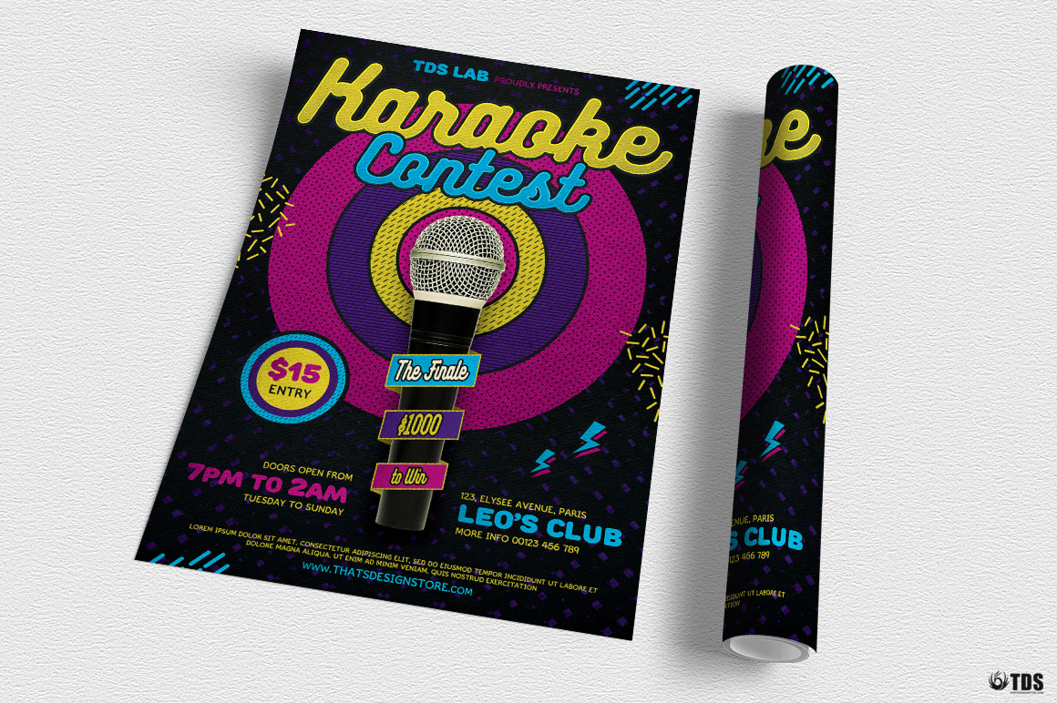 Karaoke Flyer Template V6 example image 3