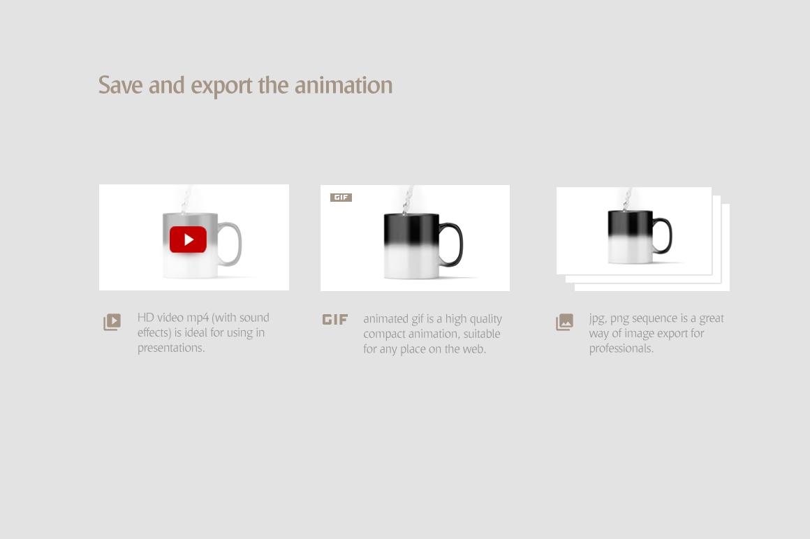 Magic Mug Animated Mock up (Color Changing Morphing Magical Mug Mockup) example image 8