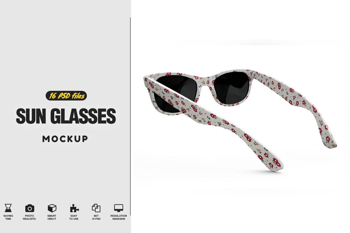 Sun Glasses Mockup by Pixelmockup | Design Bundles