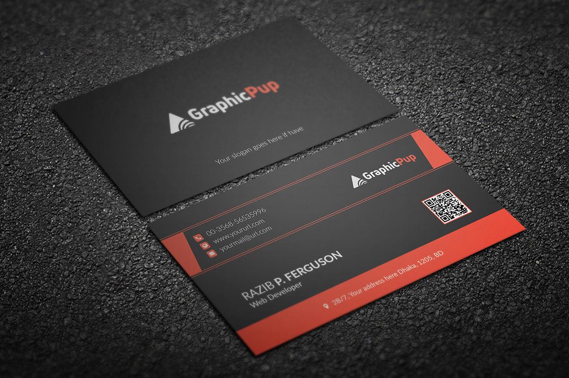 Clean Business Card by Jilapi | Design Bundles