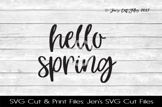 Hello Spring SVG Cut File example image 1