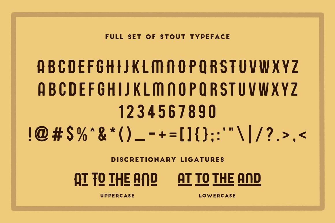 STOUT Typeface example image 3