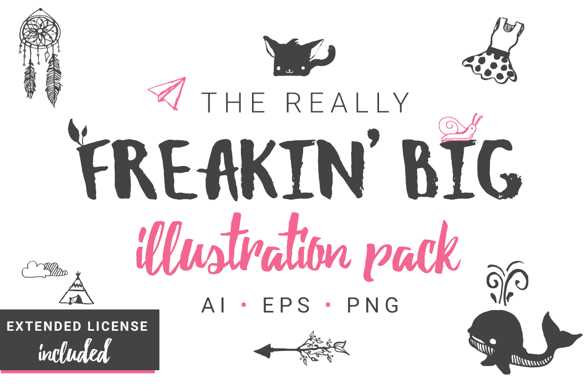 Really Freakin' Big Illustration Pack example image 1