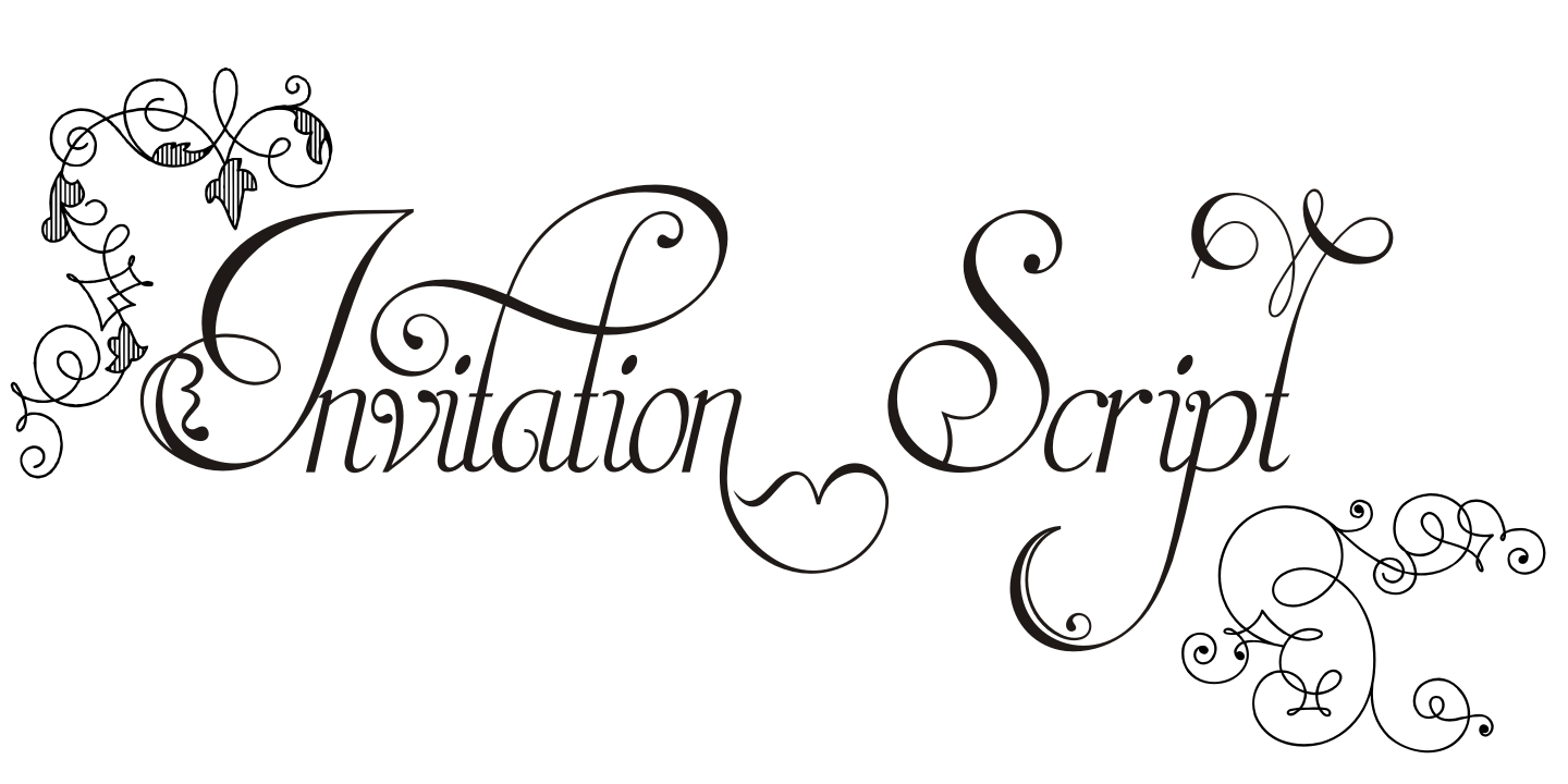 Invitation script pack 4 fonts invitation script pack 4 fonts example image 1 stopboris Gallery