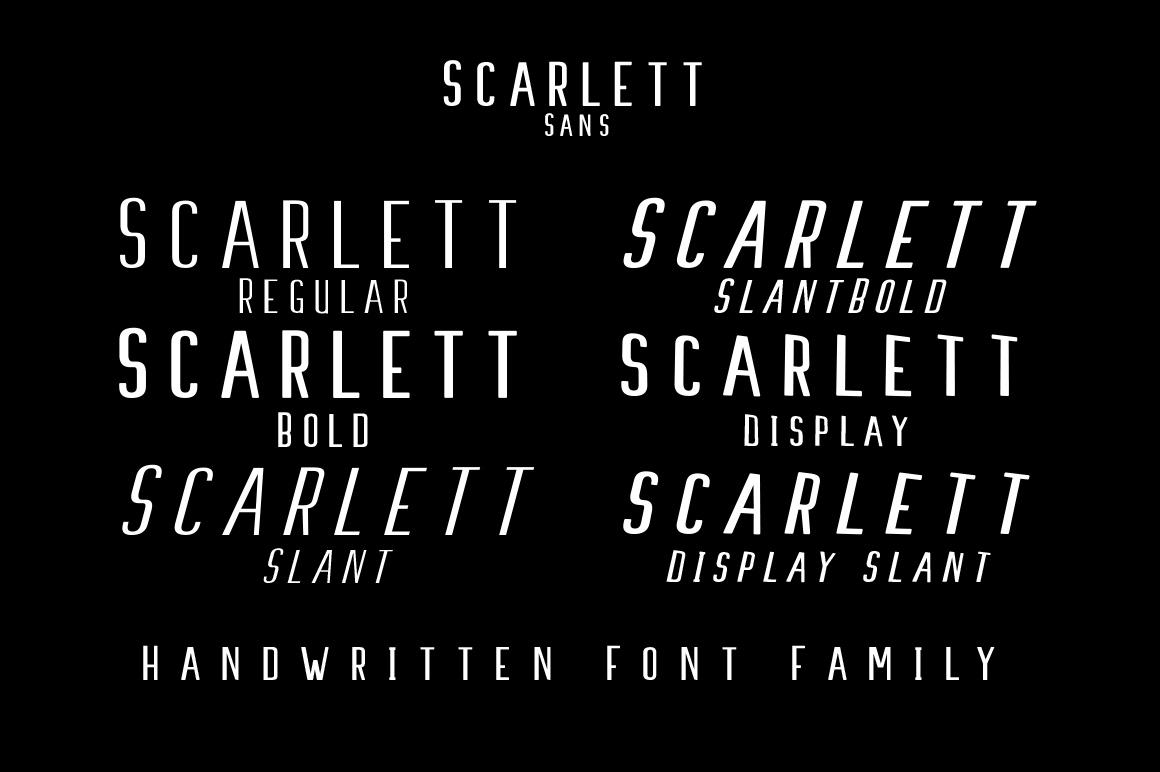 Scarlett Font Family example image 8