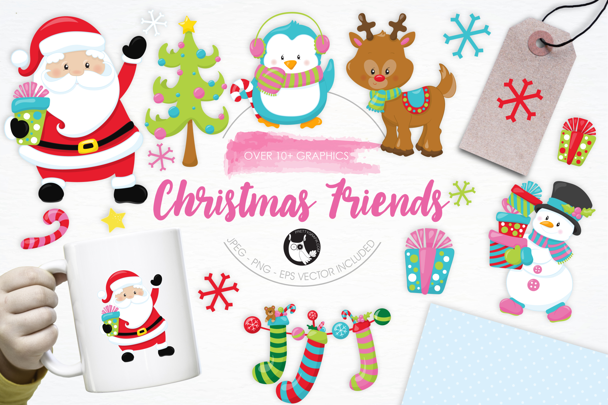 Christmas Friends graphics and illustrations example image 1