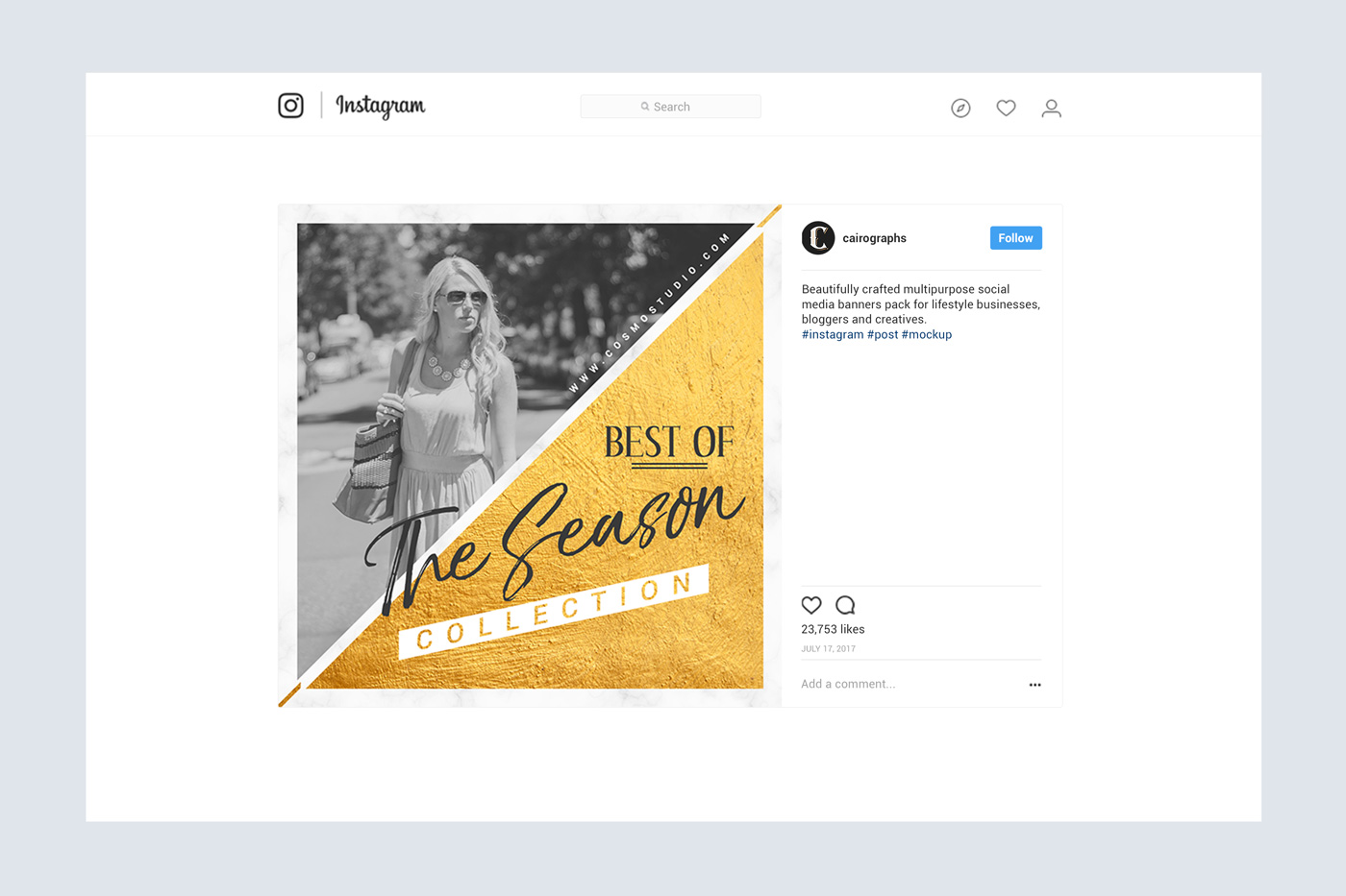 GOLD Social Media Pack example image 6