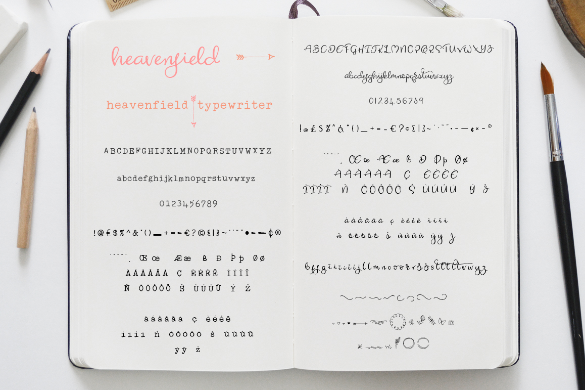 Heavenfield wedding font duo example image 9