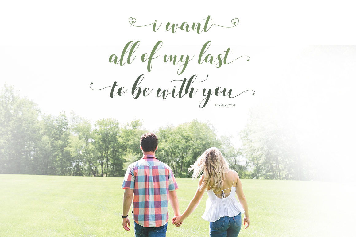 Loveya Script (Font Duo + Extras) example 3