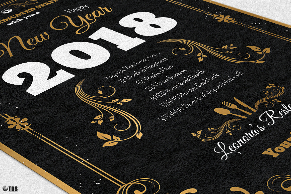 New Year Menu Template V1 example image 11