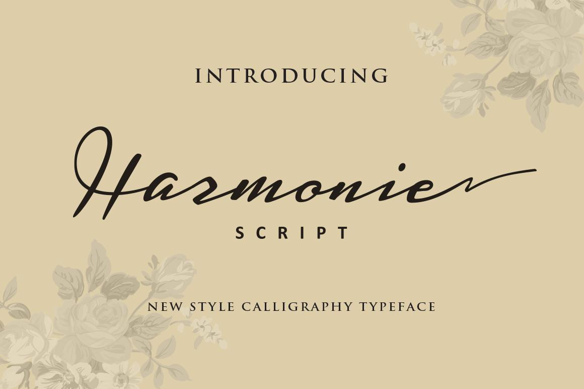 Harmonie Script example image 1