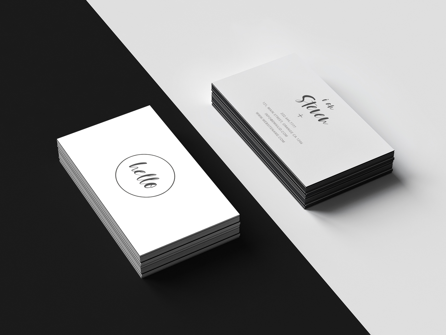 Minimal beautiful smart Business Card | Design Bundles