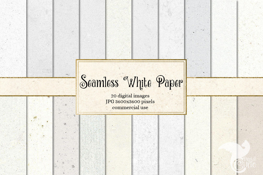 Seamless White Paper Textures Example Image 1