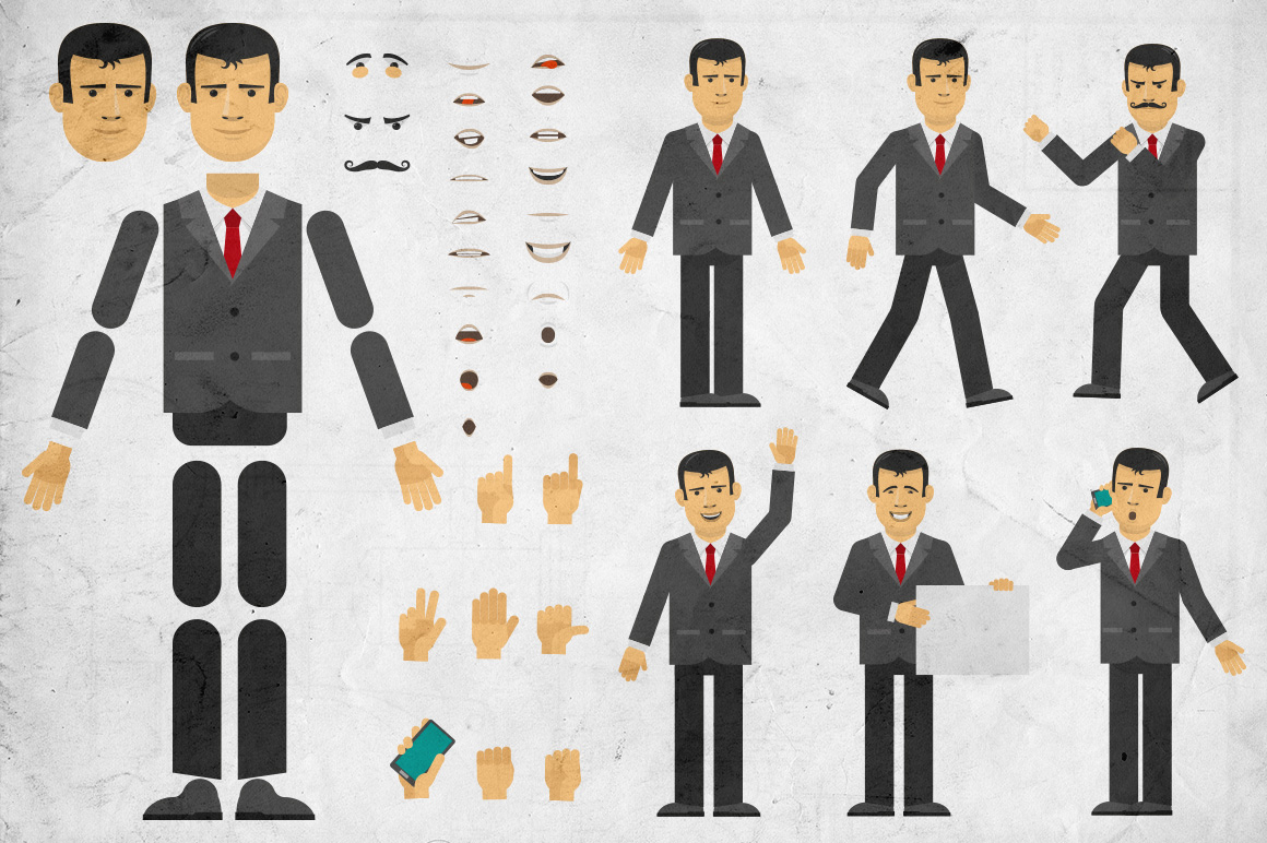 Businessman creation set example image 1