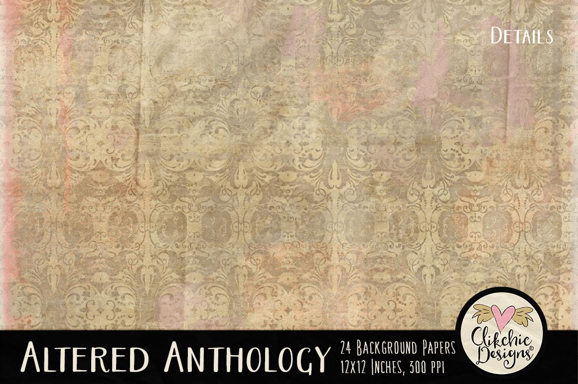 Altered Anthology Shabby Decorative Bac | Design Bundles