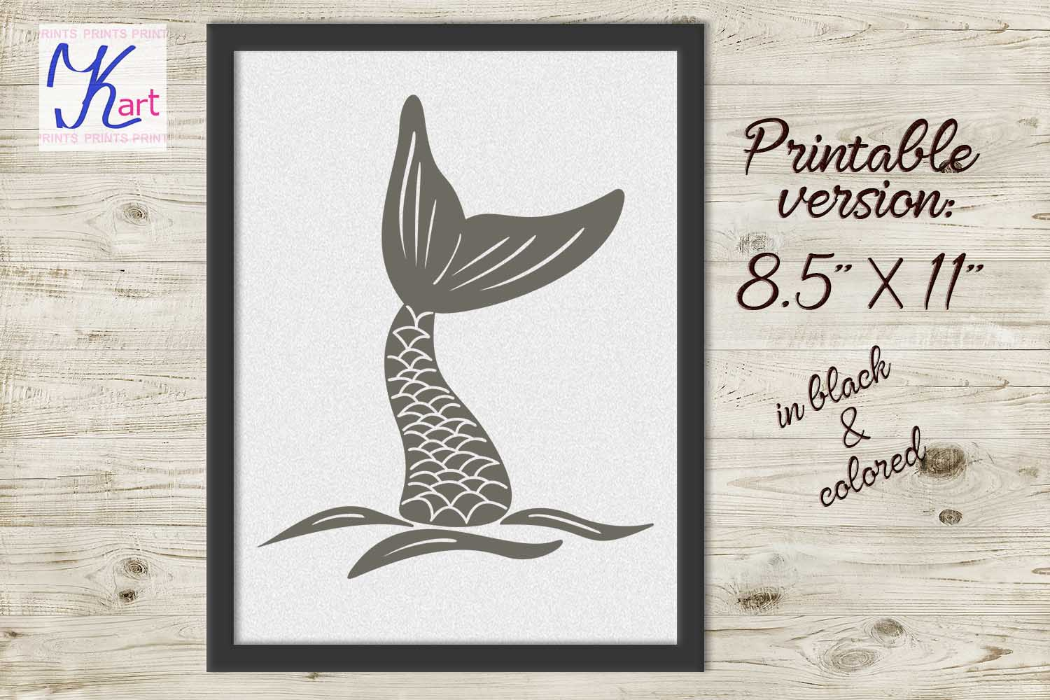 mermaid tail svg, hand drown mermaid tail, fish tail svg, mermaid iron on, hand drawn svg, hand drawn art, hand drawn logo, dxf, png, jpeg example image 3
