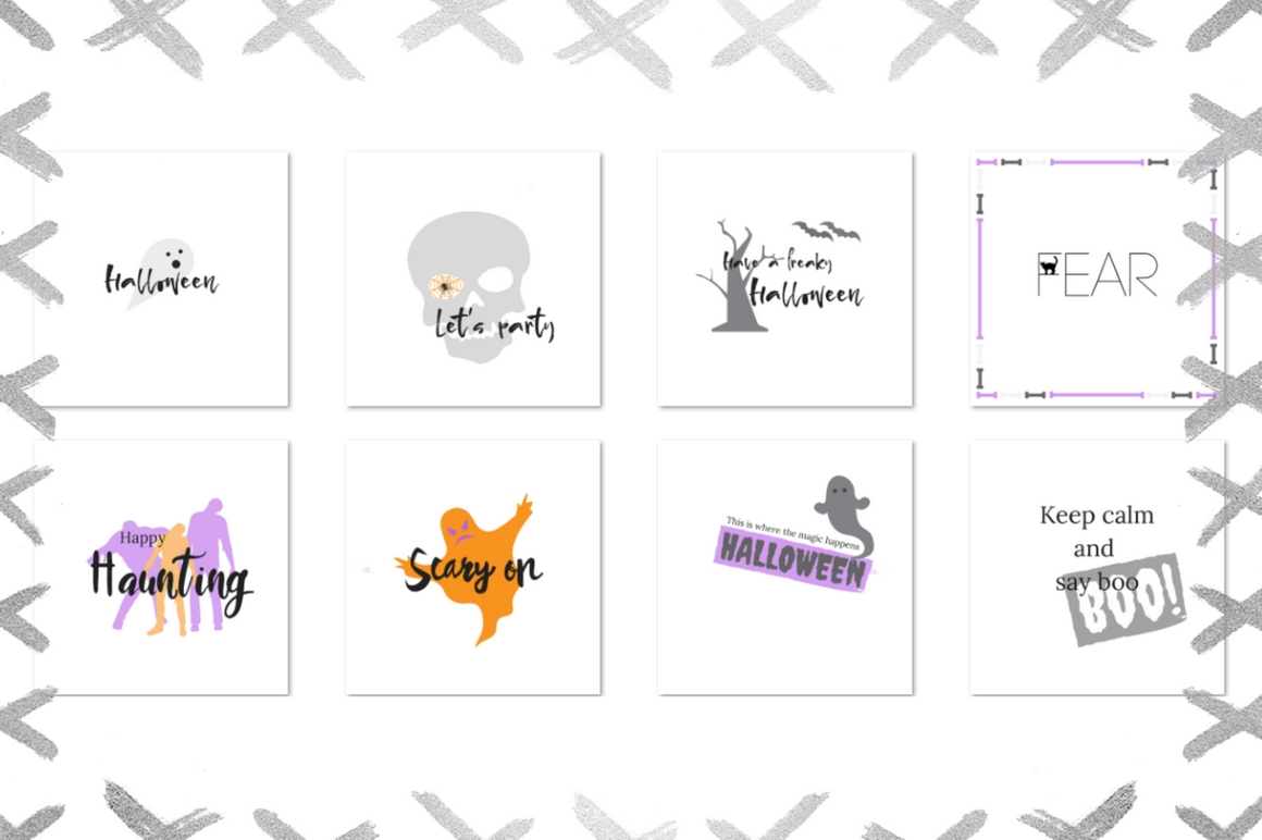 20 Halloween lettering collection example image 2