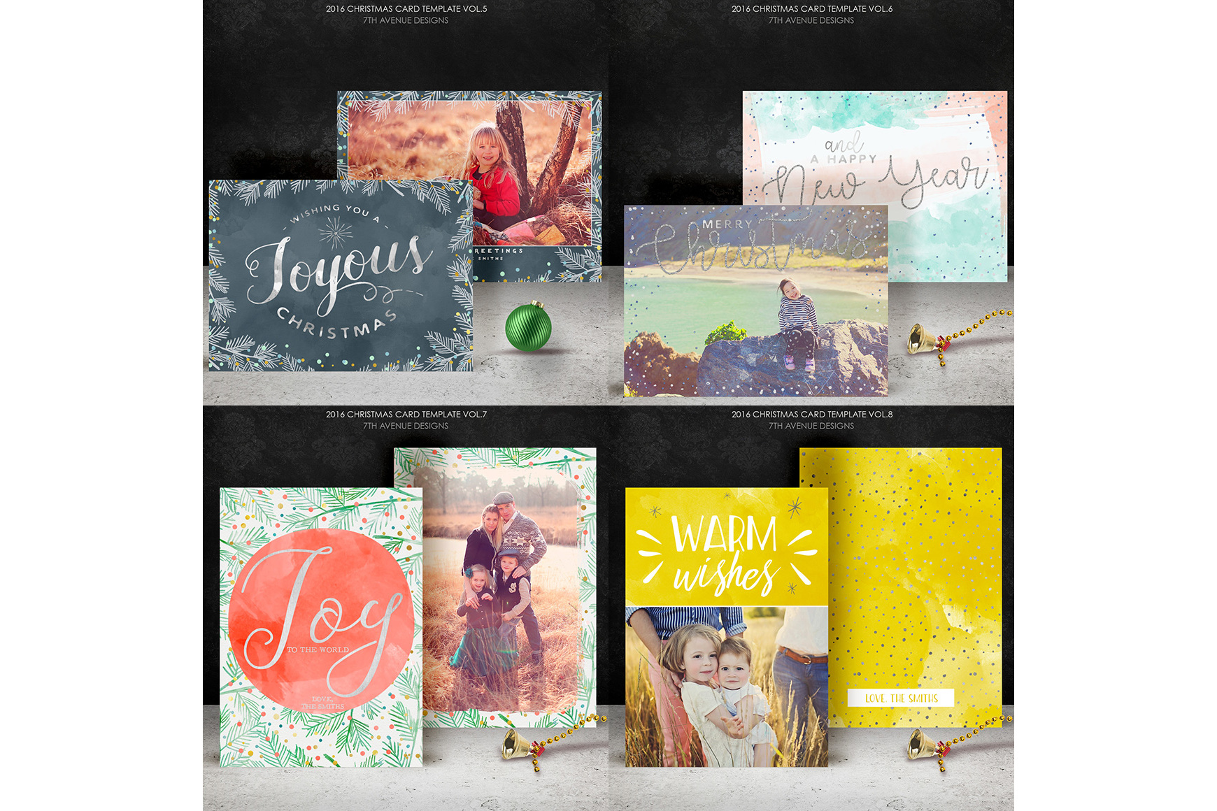 Christmas Cards Templates Collection example image 5