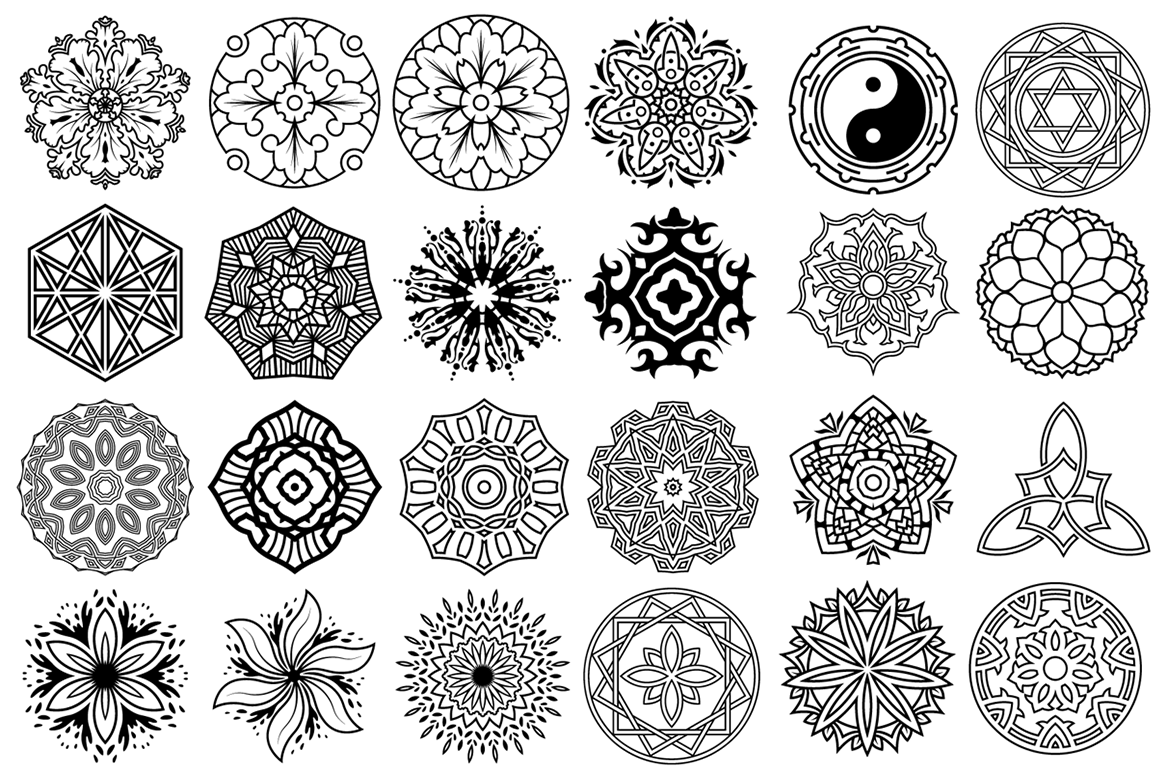 100 Vector Mandala Ornaments example image 3