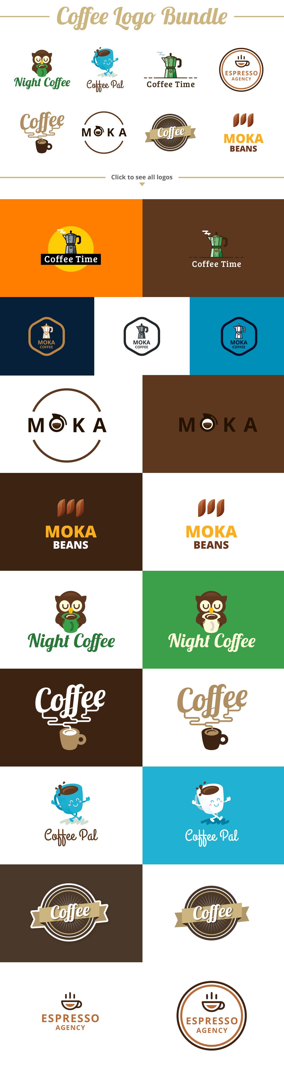 Coffee Logo Template Bundle example image 2
