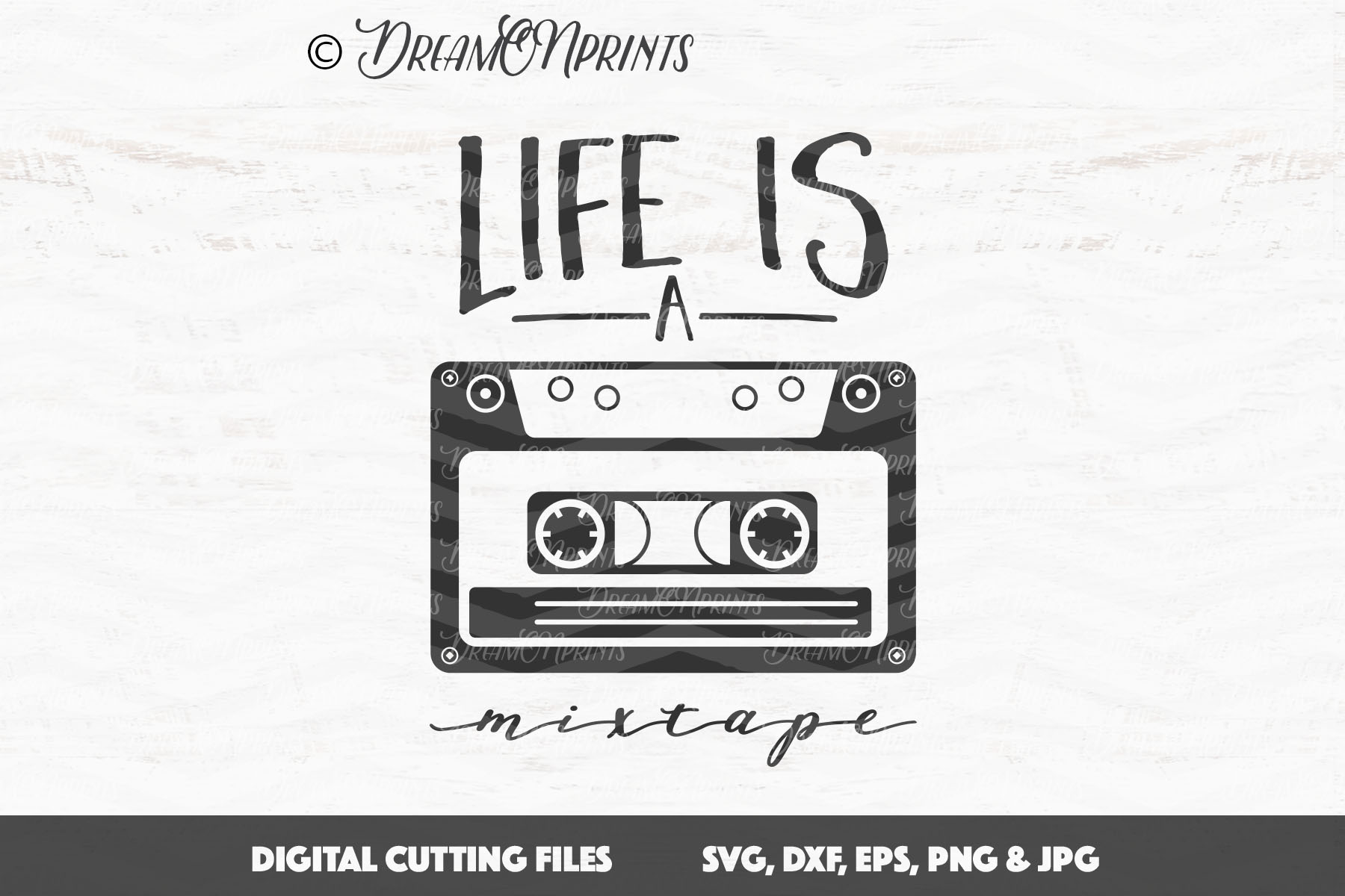 life is a mixtape music svg cut files design bundles