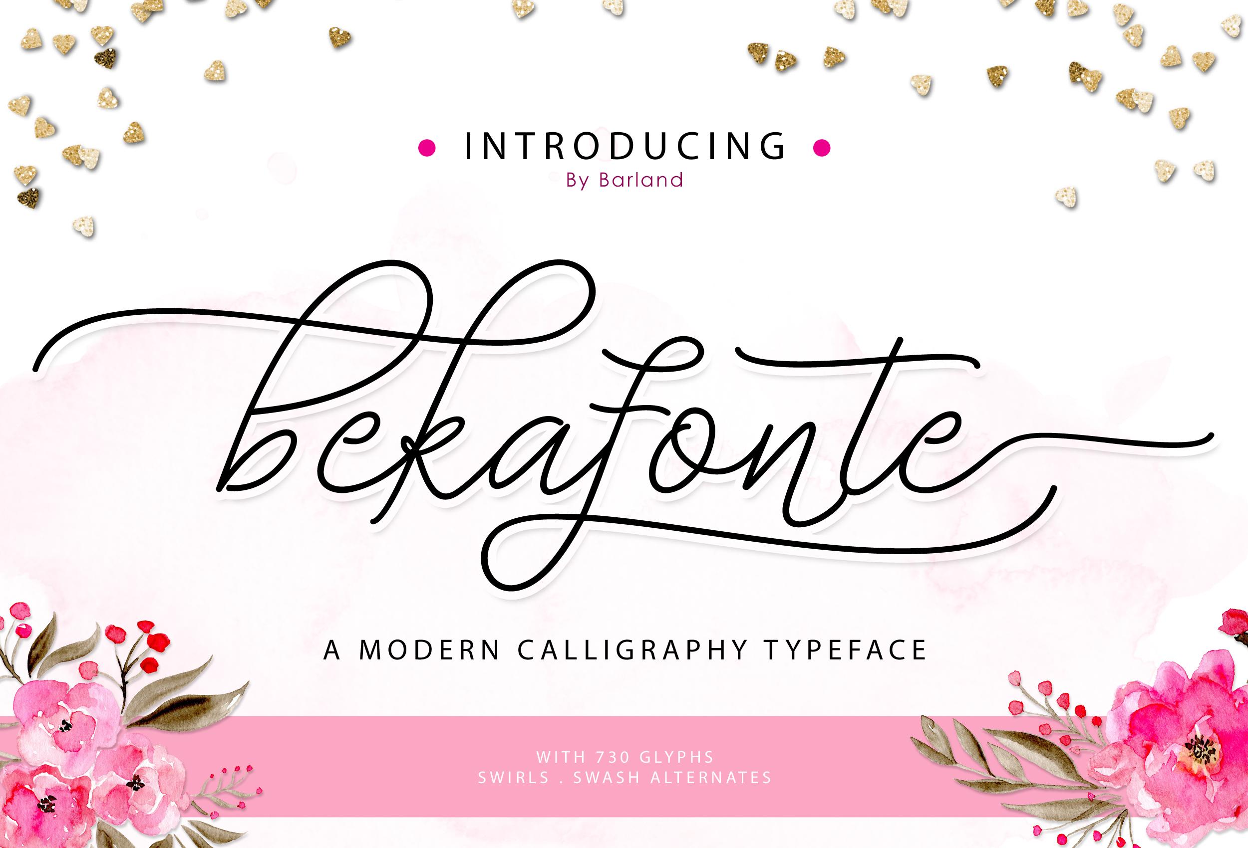 Bekafonte Typeface - New Update example image 2