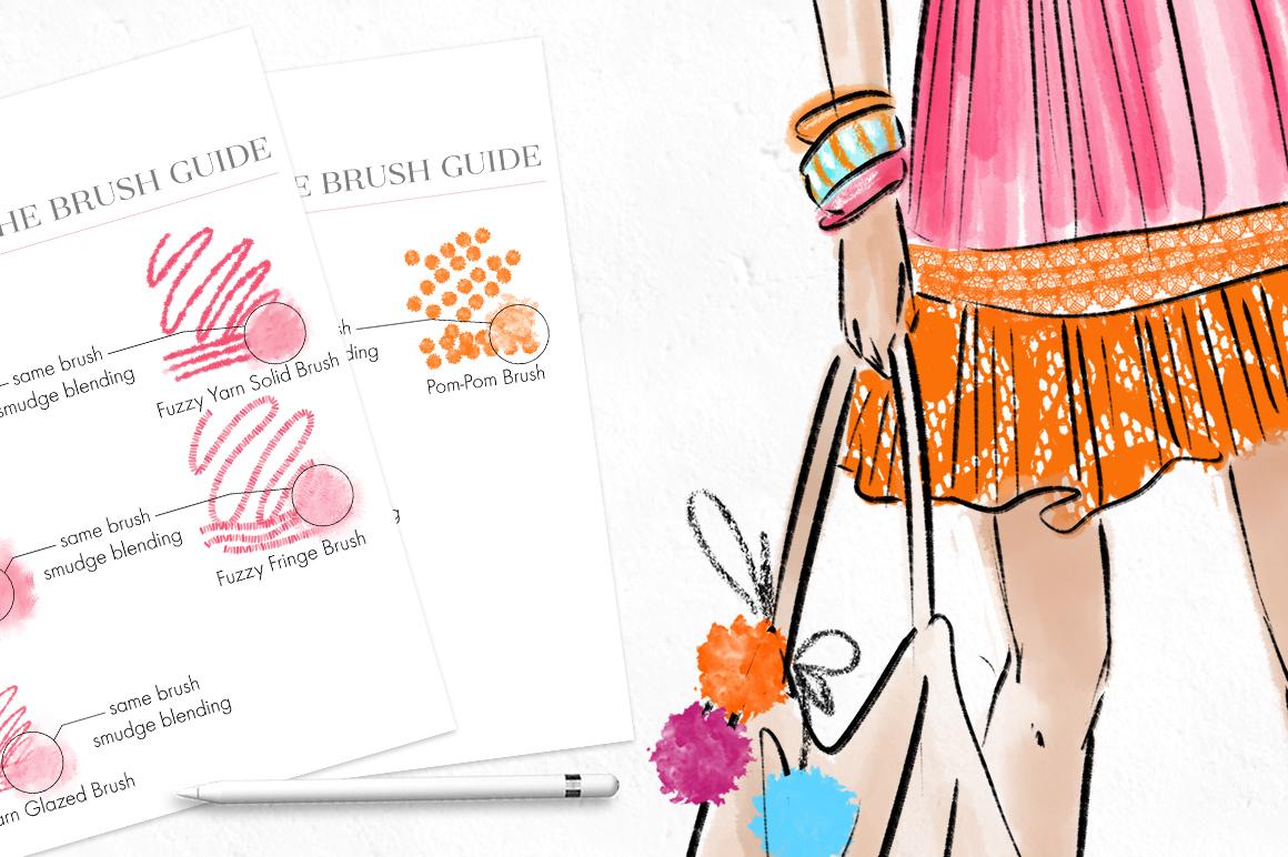 Fashion Illustration Brushes for Procreate example image 9