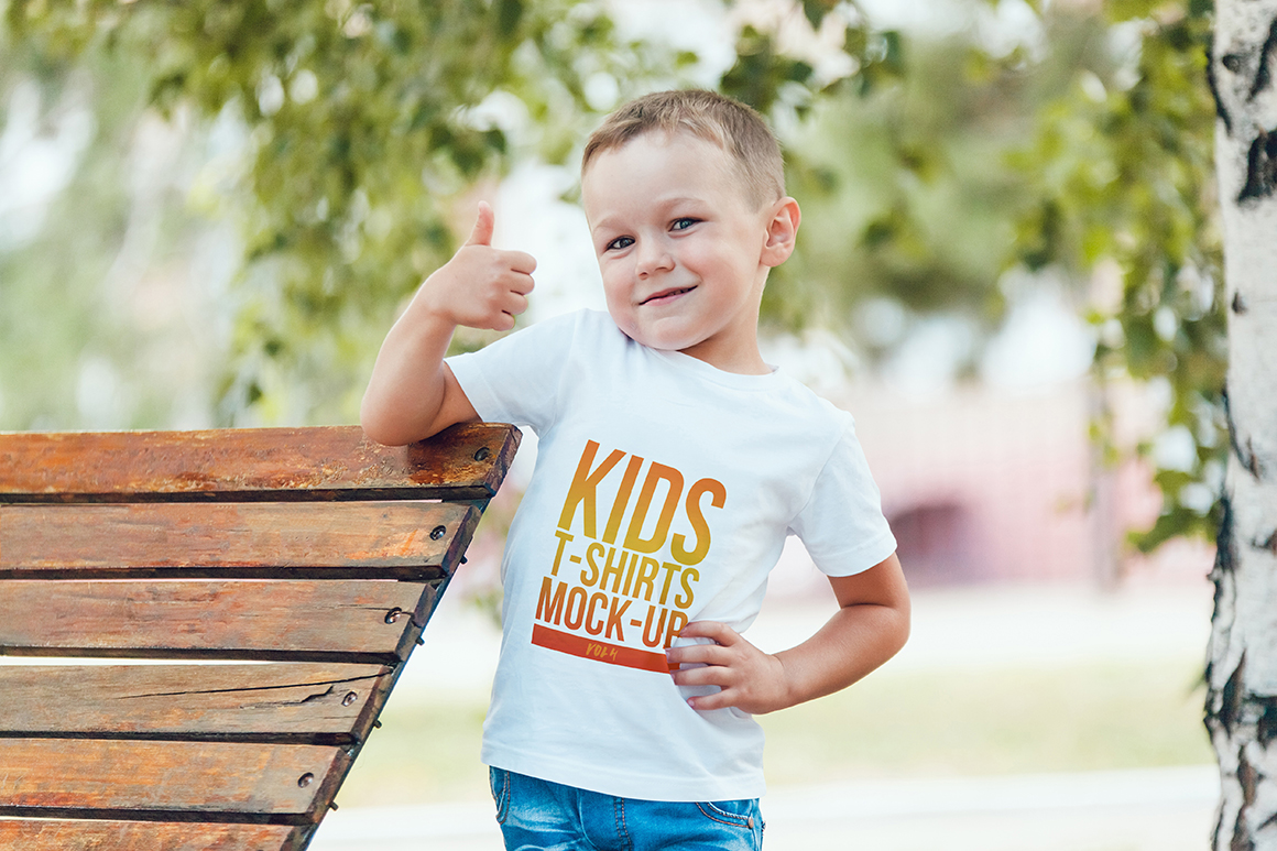 Kids T-Shirt Mock-Up Vol. 4 example image 12