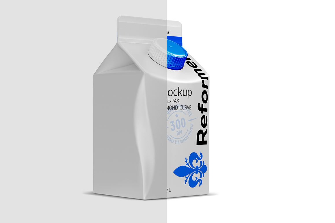 Mockup PURE-PAK/DIAMOND-CURVE 500ML example image 2