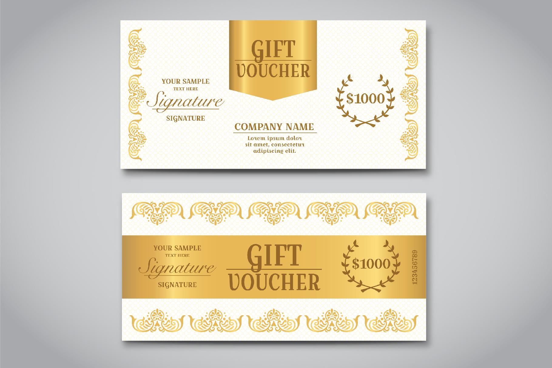 Exclusive gift voucher template by knic design bundles exclusive gift voucher template example image 4 altavistaventures Gallery