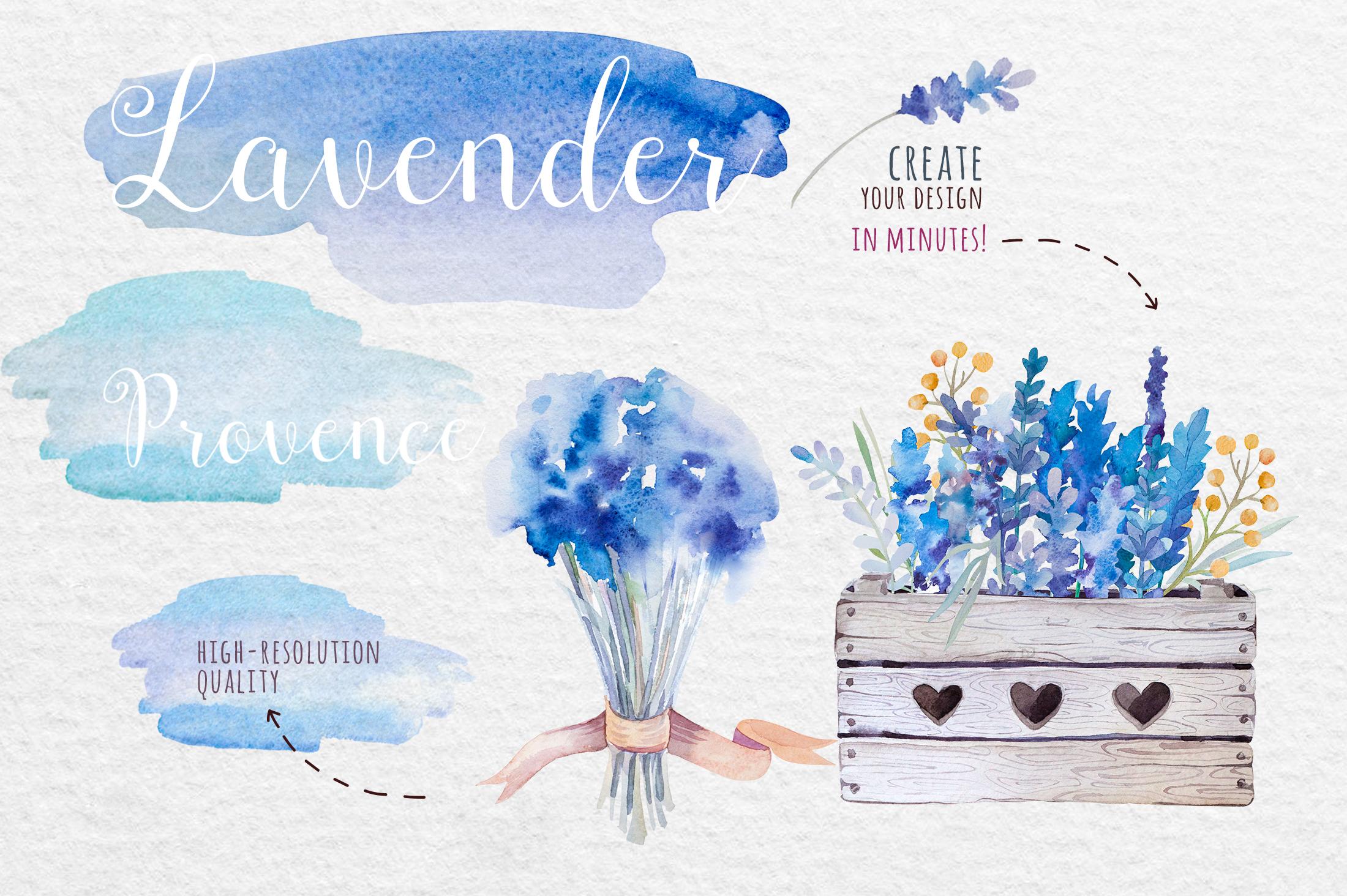 Lavender watercolor DIY example image 4