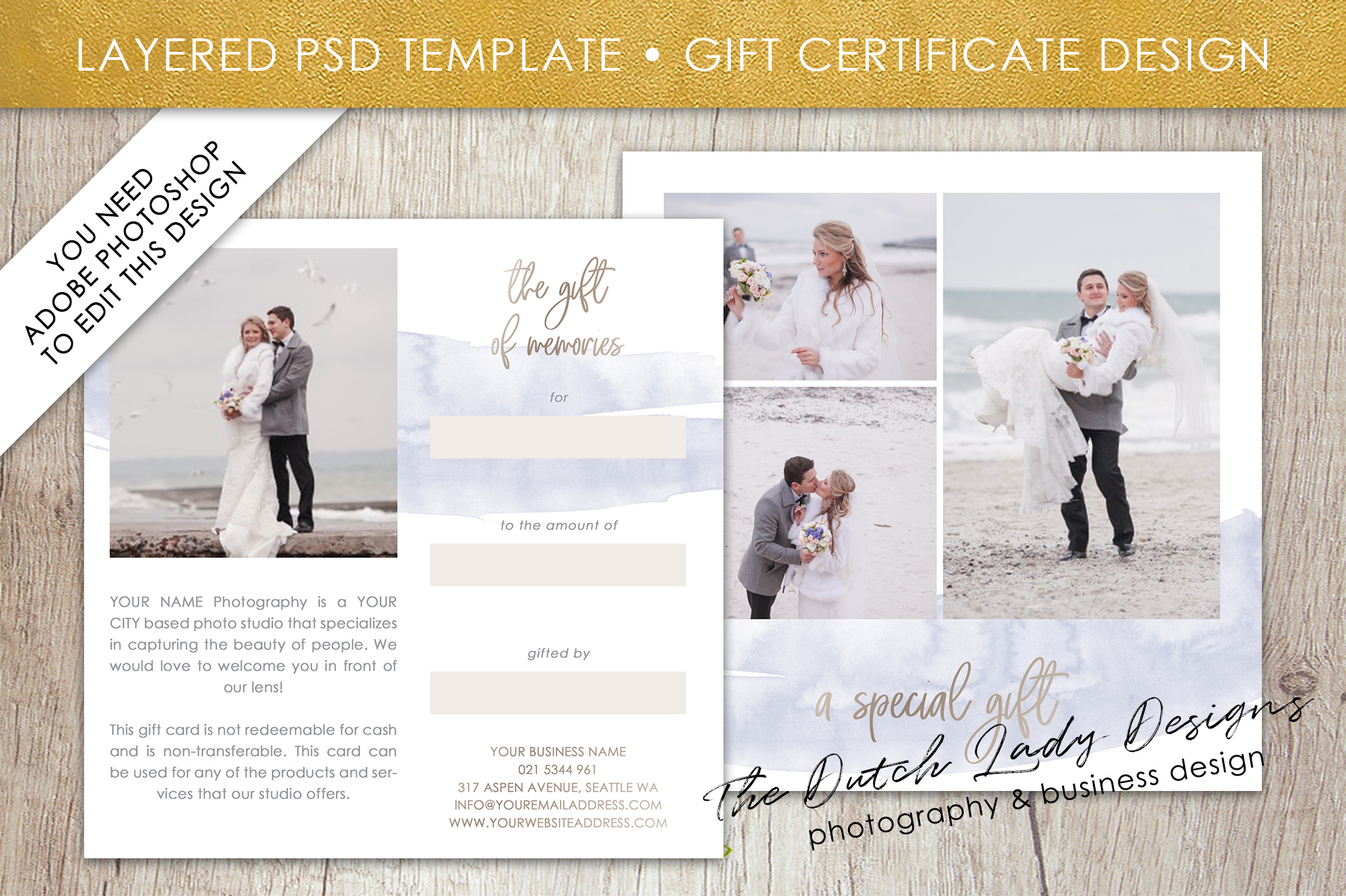 Photo gift card template for adobe phot design bundles photo gift card template for adobe photoshop layered psd template design 42 example yelopaper Gallery